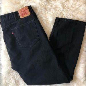 Levi's Black 505 Straight Jeans